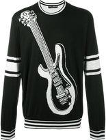 Dolce & Gabbana Guitar Crewneck Pull
