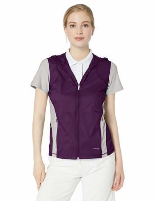 Cutter & Buck Women's Weathertec Short Sleeve Hybrid Flex Full Zip Hooded Jacket