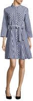Imnyc Isaac Mizrahi Button-Down Gingham Shirt Dress