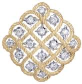 Buccellati 'Étoilée' diamond 18k gold cutout brooch