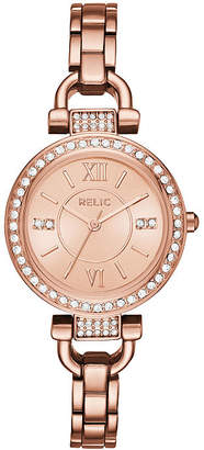 Fossil RELIC BY Relic By Womens Rose Goldtone Bracelet Watch-Zr34415