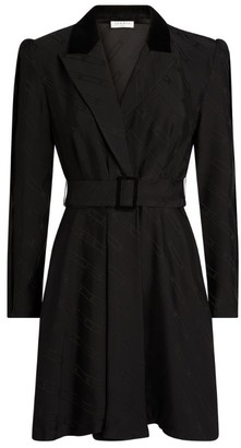 Sandro Paris Belted Jacquard Blazer Dress