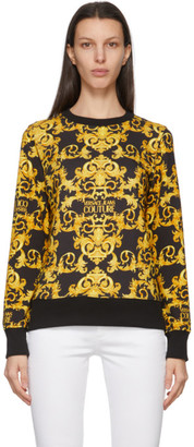 Versace Jeans Couture Black Baroque Sweatshirt