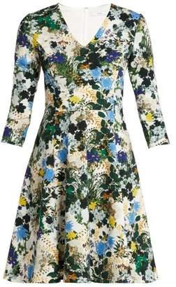 Erdem Domitilla Mariko Meadow-print Dress - Womens - White Print