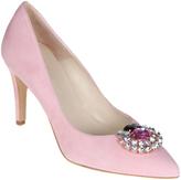 Pink & Hot Pink Rhinestone-Embellished Leather Pump