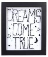 "NoJo Roar ""Dreams Come True"" Wall Art in Black/White"