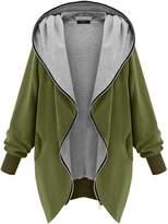 DJT Womens Hooded Zip-up Sweatshirt Coat Jacket Green