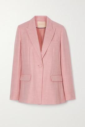 Roksanda Antalya Wool-blend Twill Blazer - Pastel pink