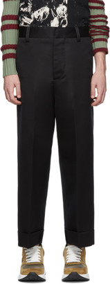 Alexander McQueen Black Wide Trousers