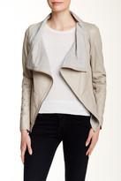 Muu Baa Muubaa Sabina Drape Genuine Leather Jacket