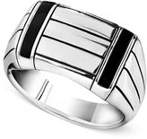 Macy's Men's Sterling Silver Ring, Onyx Accent Ring