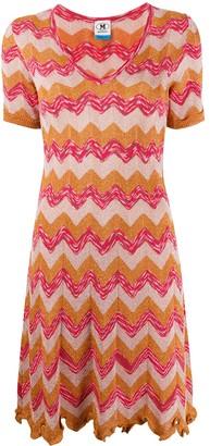 M Missoni Geometric Pattern Mini Dress