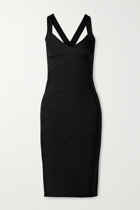 Herve Leger Icon Bandage Dress - Black