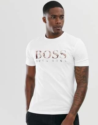 BOSS Tauch 1 logo t-shirt in white