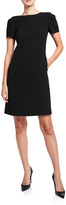 Lafayette 148 New York Cohen Short-Sleeve Finesse Crepe Shift Dress