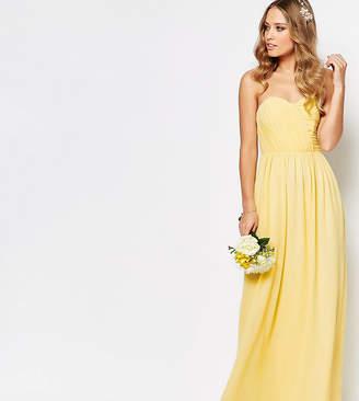 TFNC WEDDING Bandeau Chiffon Maxi Dress-Yellow