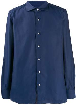 Isaia contrasting button shirt