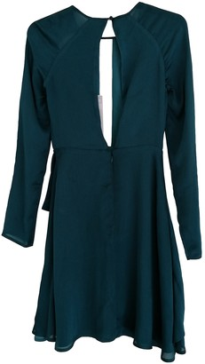 Style Stalker Green Silk Dress for Women