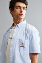 Barney Cools Embroidered Lighthouse Short Sleeve Button-Down Shirt