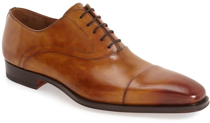 Magnanni Saffron Cap Toe Leather Oxford