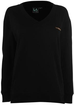 L.A. Gear V Neck Sweatshirt Ladies
