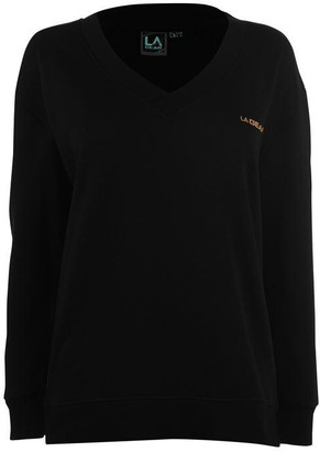 L.A. Gear V Neck Sweatshirt Ladies