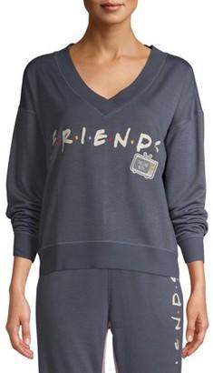 Warner Bros. Disney Women's and Women's Plus Disney Squad Long Sleeve Pajama Top