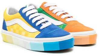 Vans Kids Colour-Block Lace-Up Sneakers