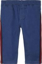 Gucci Web stripe cotton jeans 6-36 months