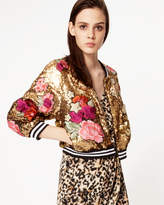Nicole Miller Flora Fauna Bomber Jacket