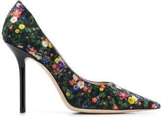Jimmy Choo Love 100mm floral-print pumps