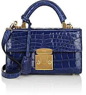 Stalvey Women's Top-Handle 2.0 Mini Alligator Satchel - Royal Blue