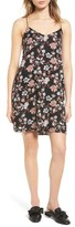 Lush Women's Floral Print Cross Back Slipdress