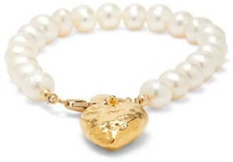 Elise Tsikis - Cernassa Faux-pearl & 18kt Gold-plated Bracelet - Womens - Pearl