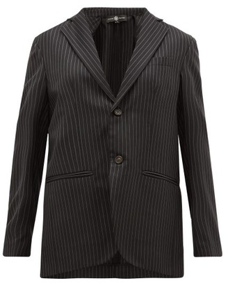 Edward Crutchley Single-breasted Chalk-striped Wool-twill Blazer - Black
