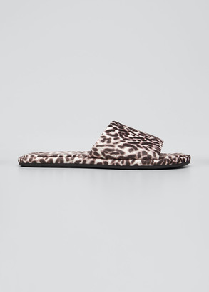 Veronica Beard Gillian Leopard-Print Slide Slippers