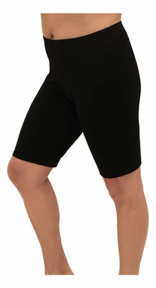 Fit 4 U Women's Plus Size Solid Long Swim Bike Short