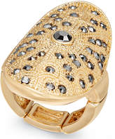 Thalia Sodi Gold-Tone Hematite Stone Stretch Ring, Created for Macy's