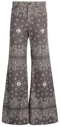 Natasha Zinko Bandana Print Denim Trousers