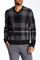 Vince Plaid Jacquard V-Neck Sweater