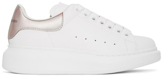 Alexander McQueen White and Iridescent Oversized Sneakers