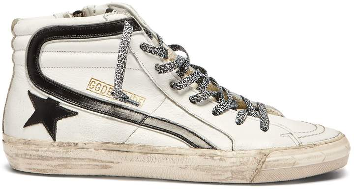 Golden Goose Slide high-top leather trainers