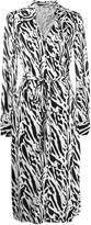 Diane von Furstenberg tiger print shirt dress