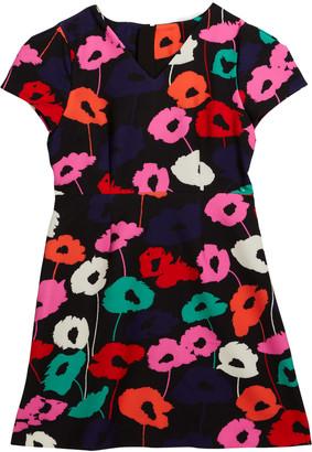 Milly Girl's Poppy-Print Short-Sleeve Dress, Size 7-16