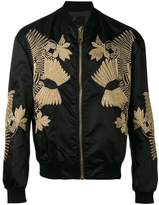 Les Hommes embroidered bomber jacket