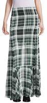 McQ by Alexander McQueen Flared Fluid Silk Maxi Skirt