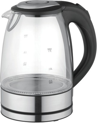 Mega Chef MegaChef 1.7-Liter Glass & Stainless Steel Electric Teakettle