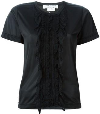 Comme Des Garçons Pre-Owned lace detail T-shirt