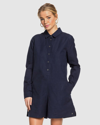 Roxy Womens Midnight Pool Long Sleeve Shirt Playsuit