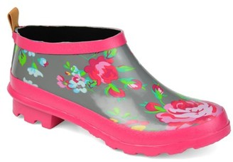 Brinley Co. Womens Patterned Rubber Ankle Rainboot